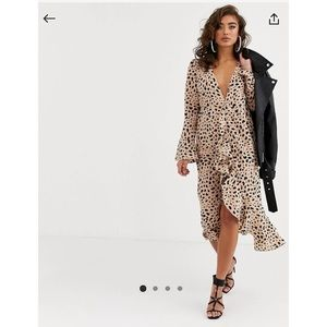 PRETTY LAVISH LEOPARD WRAP DRESS
